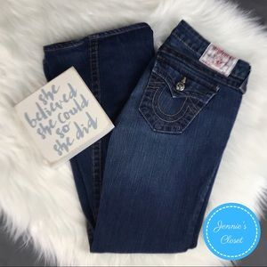 True Religion Petites Joey Bootcut Flare Jeans 28